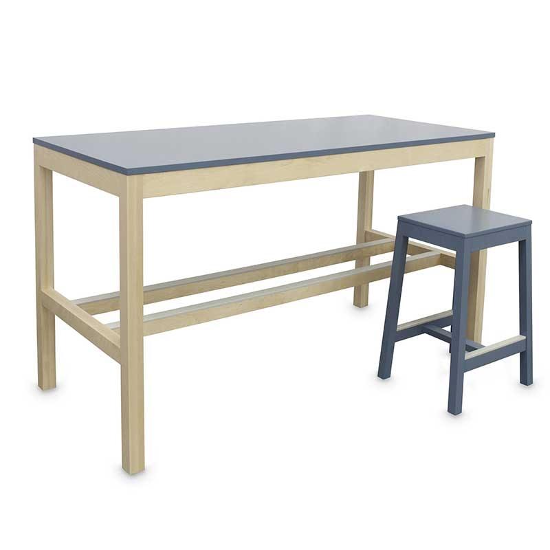 9f044c22e0e3 Coloured Formica and Oak Breakfast Bar Table